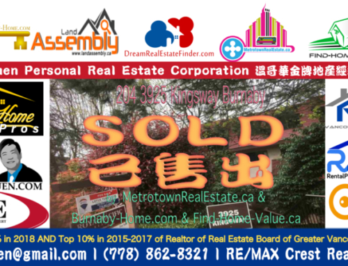 SOLD : Burnaby Apartment for Sale (High Density Mixed Use Zoning in Metrotown)