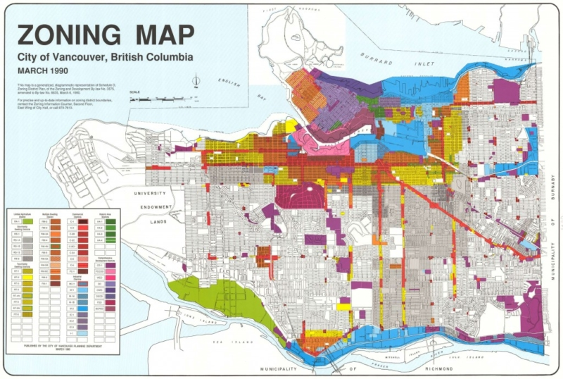 Vancouver rezoning map